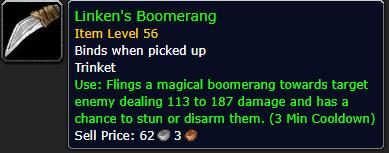 linkens boomerang wow classic