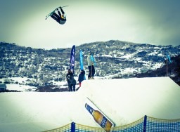 Freeskier double nose grab - The Mile High, Perisher