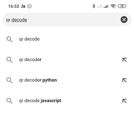 гуглим Online QR decoders