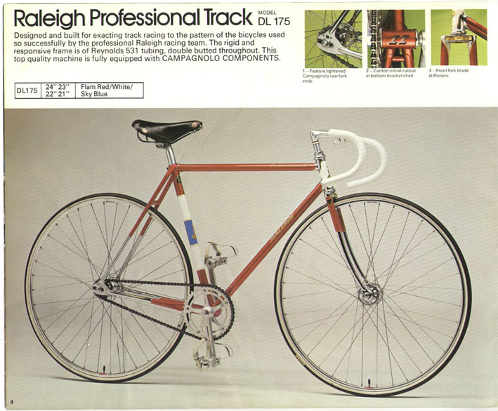 Raleigh Team Professional Track 74