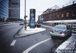 Mittagspause, Polizei Hamburg Radstreifen Parkplatz