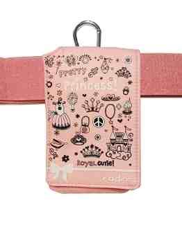 Insulin-Pump-Universal-Case-Pink-Princess-Design-with-Belt-B078PMW71L