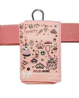 Insulin-Pump-Universal-Case-Pink-Princess-Design-with-Belt-B078PMW71L