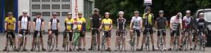 Start zur geführten Rennradtour