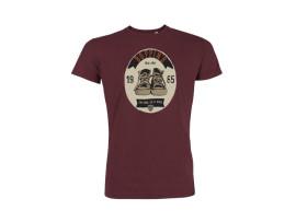 "Boppin'B T-Shirt ""Ellipse Burgundy"" Man"