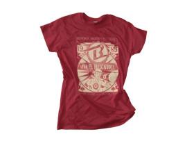 "Boppin'B T-Shirt ""Viva el Rock'n'Roll – RED"" Man – XXL"