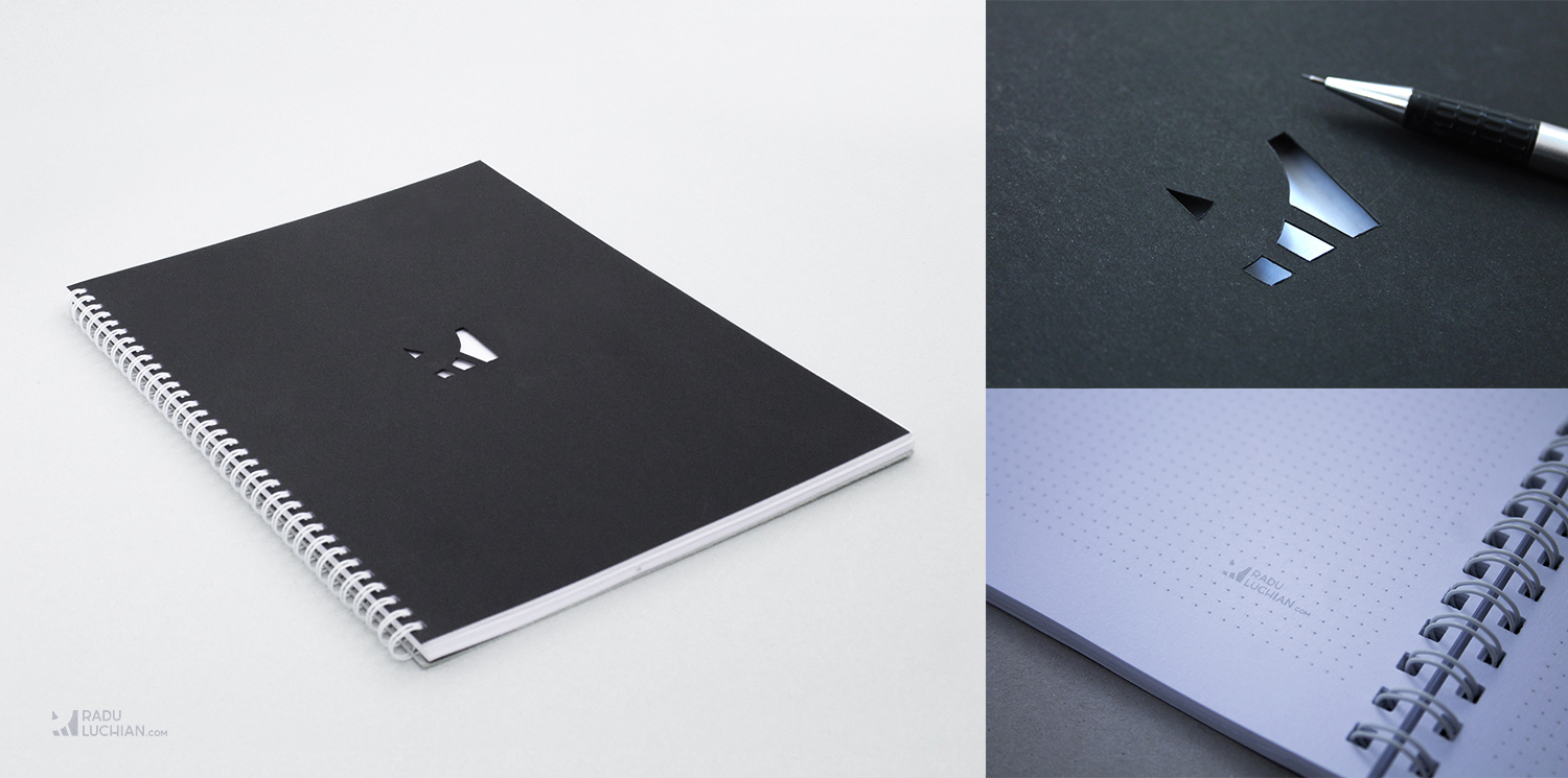 Custom branded dot-grid book