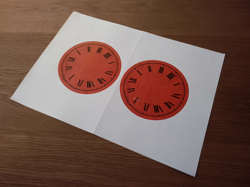 Just printed two clock faces on in case I messed up one of them.