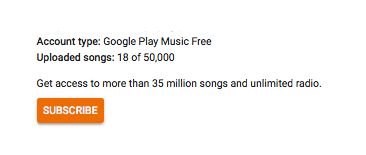 You can upload and stream up to 50,000 of your own songs for free