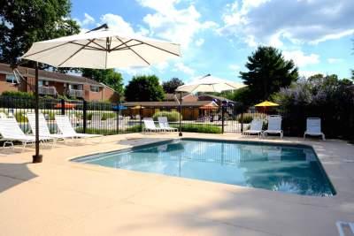 Kids swimming pool in Bryn Mawr, PA at Radwyn apartments