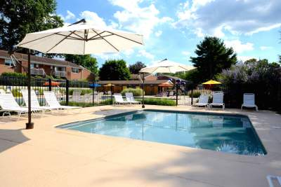 Kids swimming pool in Bryn Mawr, PA at Radwyn apartments