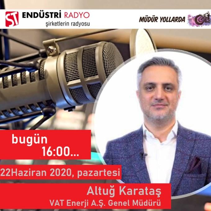 VAT Enerji A.Ş. Genel Müdürü Altuğ Karataş: Sanayide Enerji Verimliliği