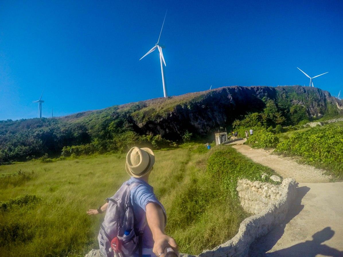 view of the Wind Mills at Burgos, Ilocos Norte