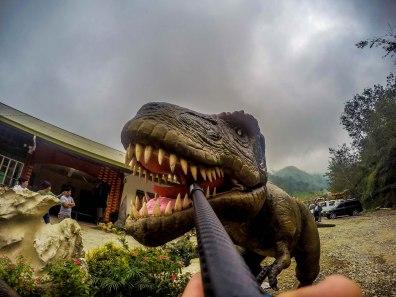 selfie of a dinosaur at Dinosaur Island, Baguio