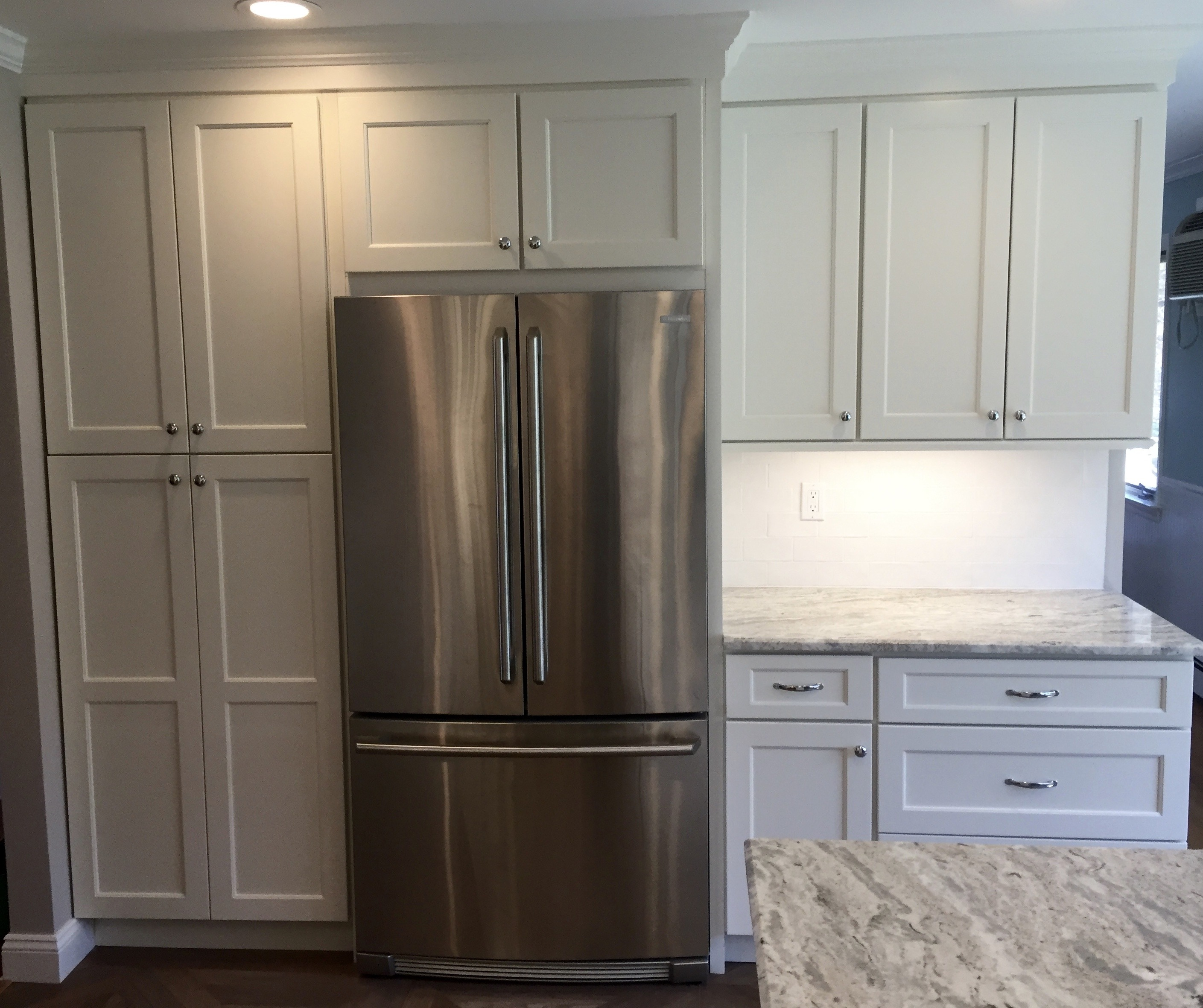 After, relocating fridge