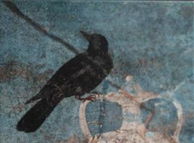 """La licenciada en ciencias exactas y fotógrafa de la naturaleza Karin Faber dona a la Biblioteca de la RAED la obra """"Aquellas aves de Pompeya. Un paseo ornitológico en el año 79 d.C."""", editada por la Real Academia de Bellas Artes de San Fernando"""