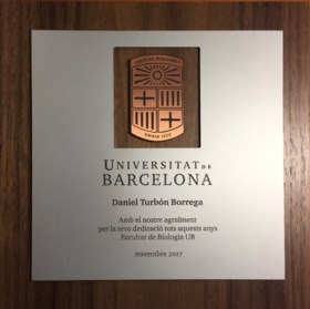 Placa conmemorativa a Daniel Turbón Borrega