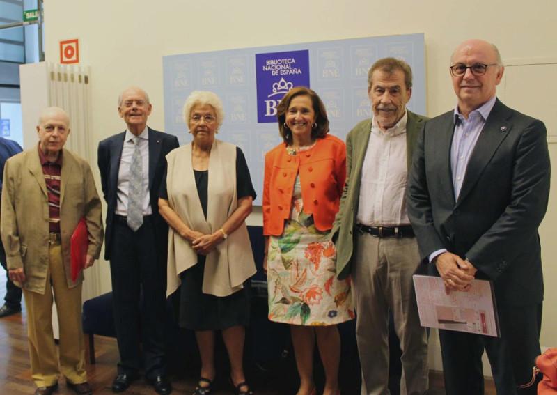 Javier Lostalé, Ignacio Buqueras i Bach, Beatriz de Moura, Ana Santos, Fernando Sánchez Dragó y Aldo Olcese
