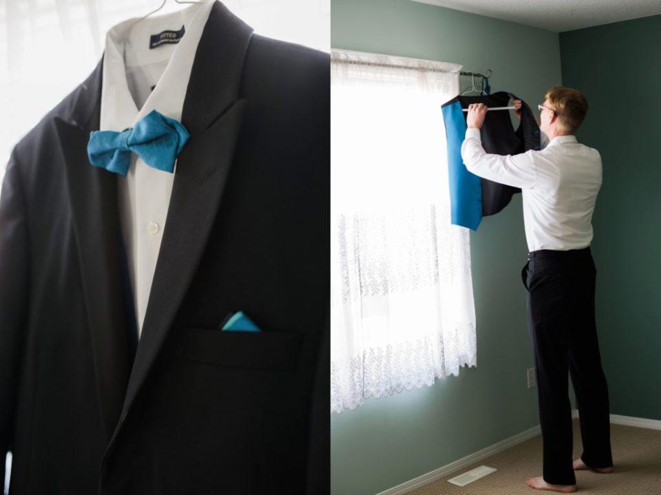 Groom's shirt, jacket and tie