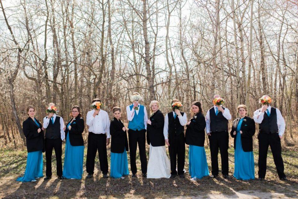 Untraditional wedding party
