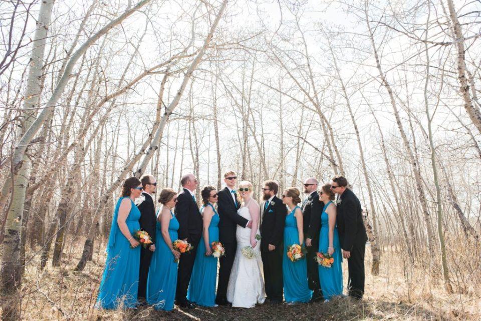 Wedding party at Buffalo Lake, AB