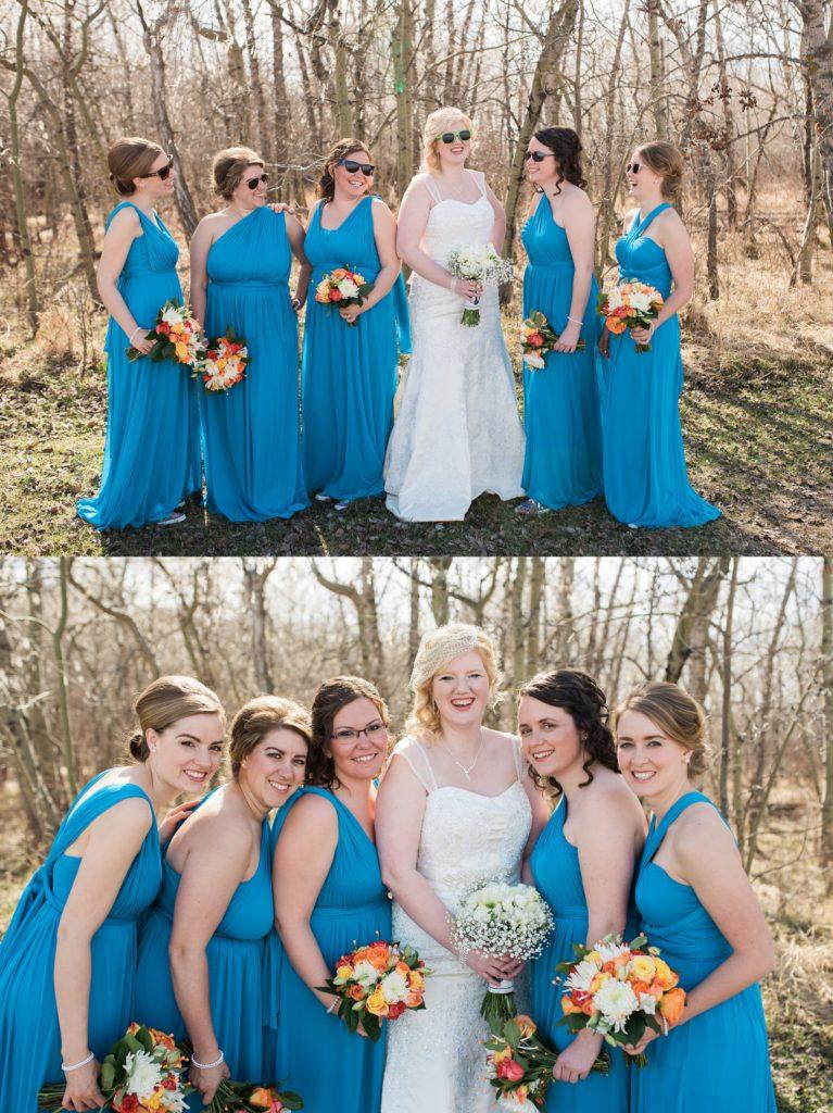 Sassy bridal party