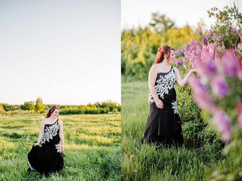 Grade 12 grad photos | Stettler Photographers | Black and white grad dress | Graduation | Grad portraits