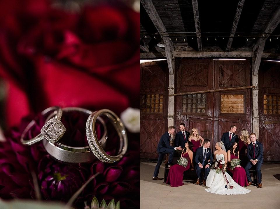 Burgundy and Navy Wedding Inspiration | Red Deer Wedding Photographers | Hanna Community Hall