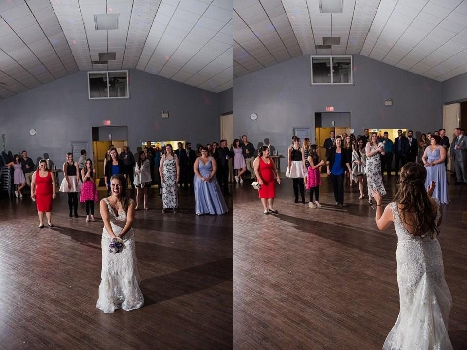 Purple and Silver Wedding Inspiration | Red Deer Wedding Photographers | Penhold Memorial Hall