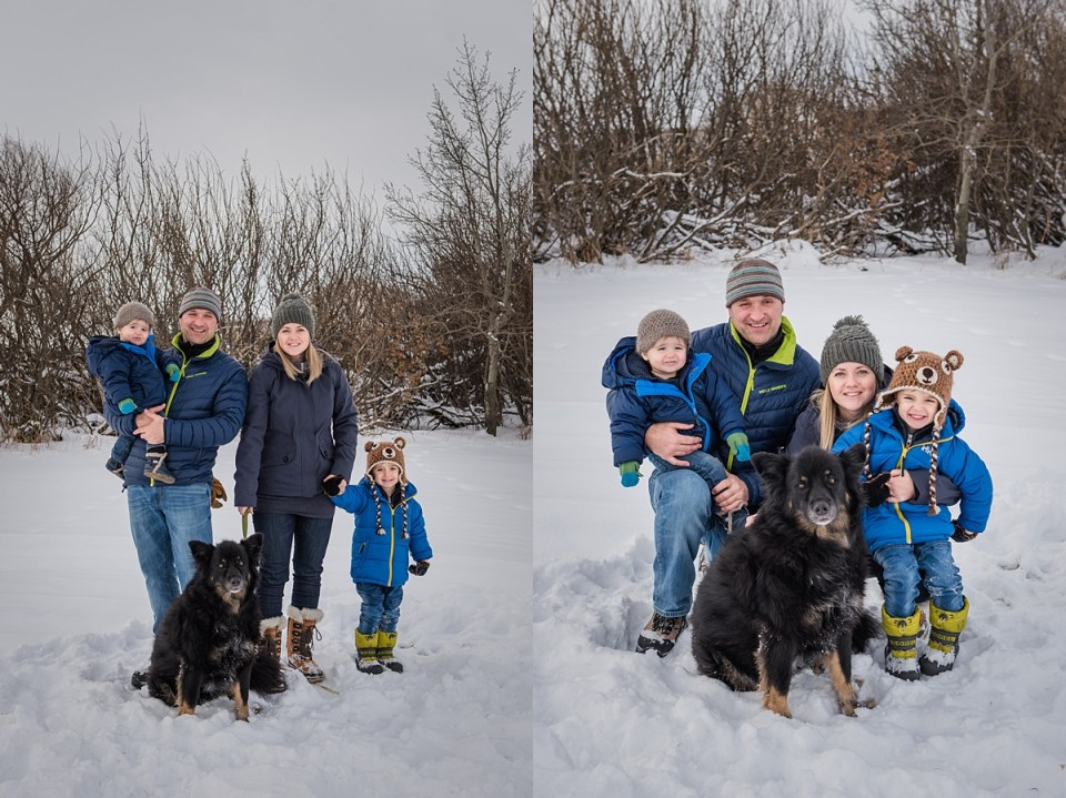 Outdoor Winter Family Pictures | Stettler Photographers