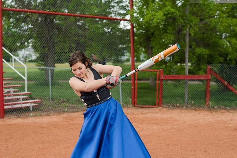 Grad photos at the Ball Diamond   Stettler Grad Photos   Baseball field   Women's softball  