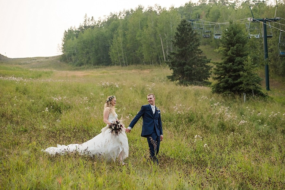 Cattle Themed Farm Wedding at Canyon Ski Hill | Red Deer Weddings | Canyon Ski Hill Wedding Ceremony | Rustic Farm Decor at a wedding
