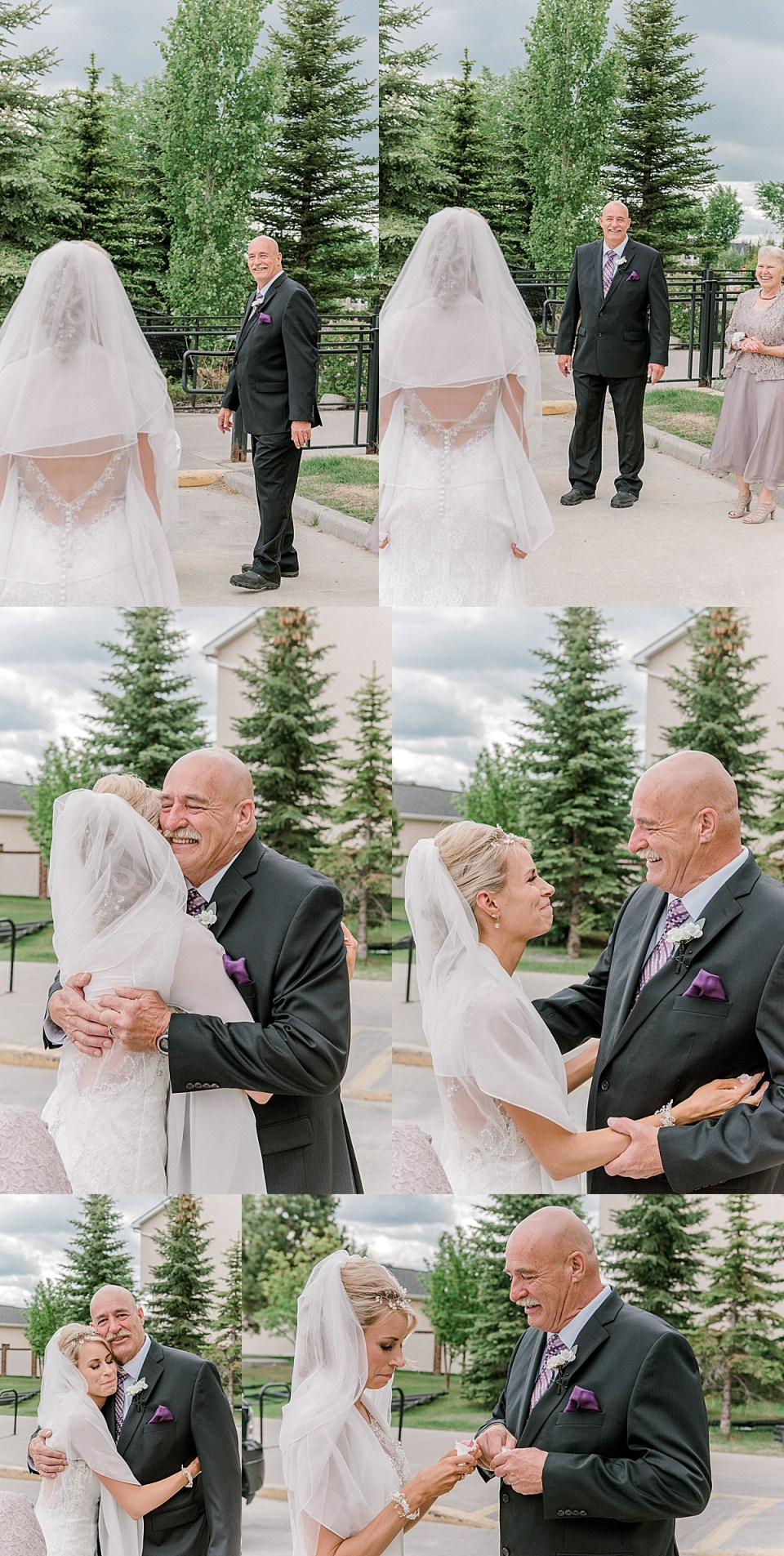 daddy-daughter-first-look-before-ceremony-wedding-at-saskatoon-farm-near-calgary-raelene-schulmeister-photography