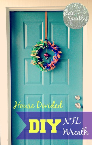 DIY NFL Wreath House Divided