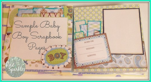 Baby Boy Sample Scrapbook Pages