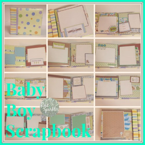 Sample Baby Boy Scrapbook Pages