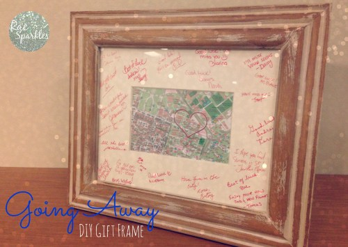 Going Away DIY Frame Gift