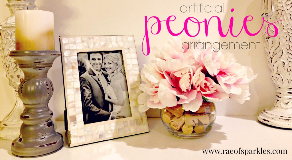 Artificial Peonies Arrangement // Dollar Store Projects // Rae of Sparkles