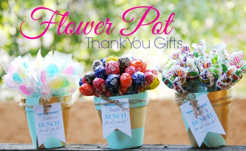 Flower Pot Gift // Thanks a Bunch DIY Thank You Gift // Free Printable