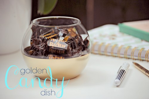 DIY Gold Dipped Candy Dish