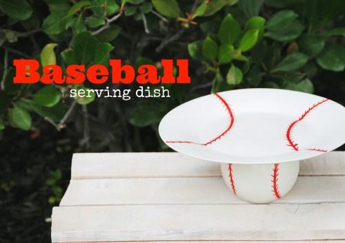DIY Baseball Serving Dish // Baseball Themed Party