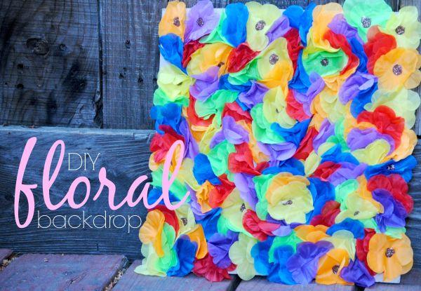 DIY Floral Backdrop