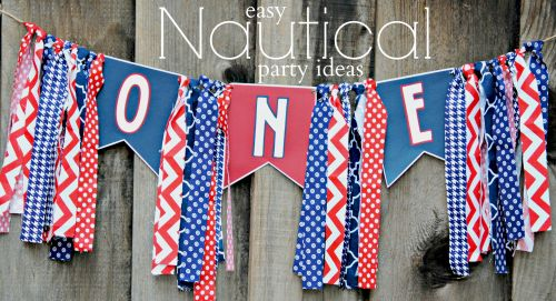 Easy Nautical Party Ideas  Nautical Birthday Banner