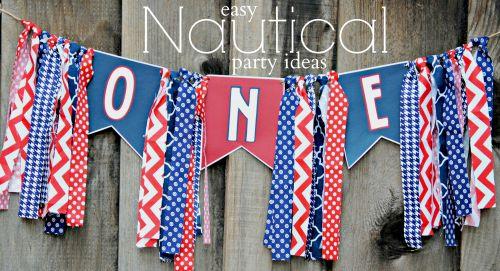 Easy Nautical Party Ideas  Nautical Birthday Banner