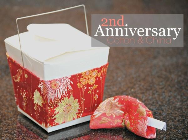 2nd Anniversary Gift - Cotton and China