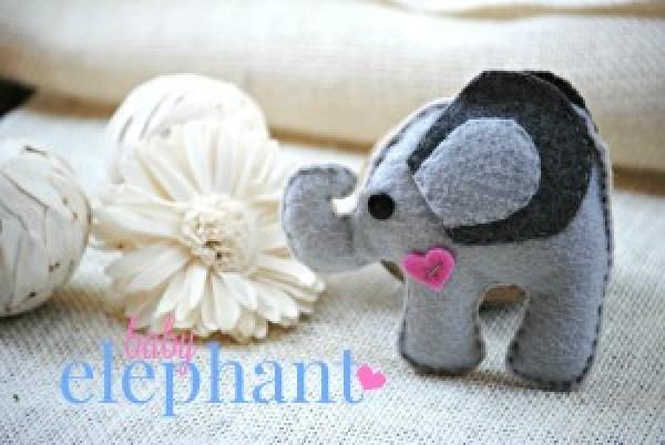 DIY Felt Stuffed Elephant