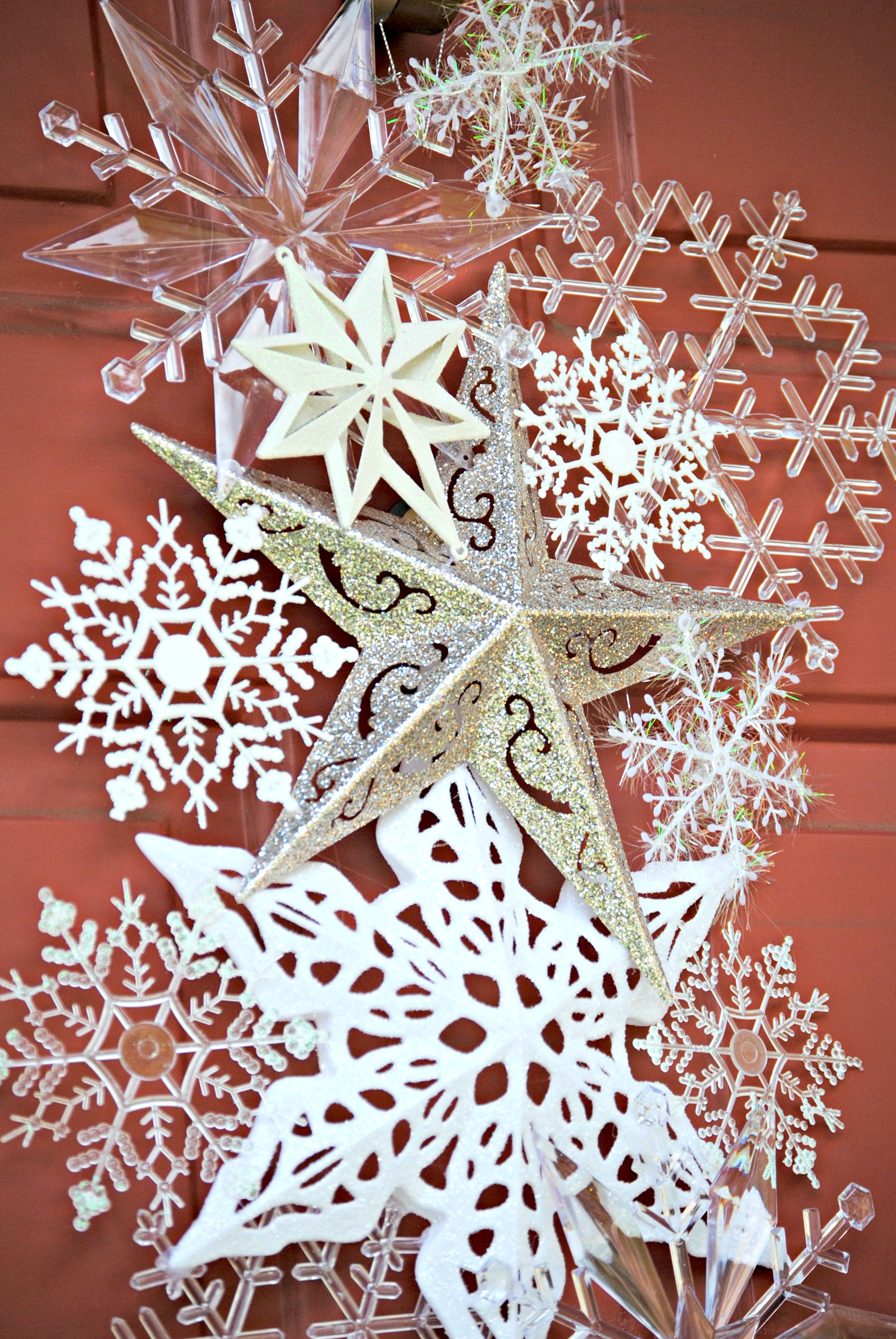 Dollar Store Snowflake Door Hanger Snowflake Door Hanger Dollar Store  Snowflake Door Hanger Diy Snowflake Christmas Card Holder With Christmas  Card Wreath ...