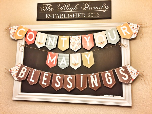 Thanksgiving Banner - Countdown to Thanksgiving