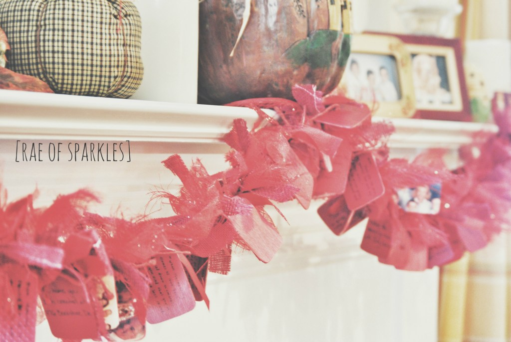 DIY Ruby Garland - DIY 40th Wedding Anniversary Gift