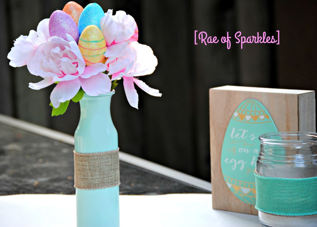 Dollar Tree Easter Vase DIY